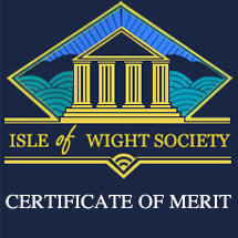 Isle of Wight Society 2012 'Certificate of Merit'