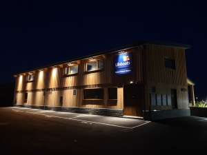 RNLI Penlee completed photo 14 - from car park (night) S4