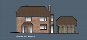 35005 proposed front elevation