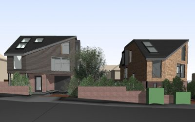 Two new contemporary dwellings, Netley