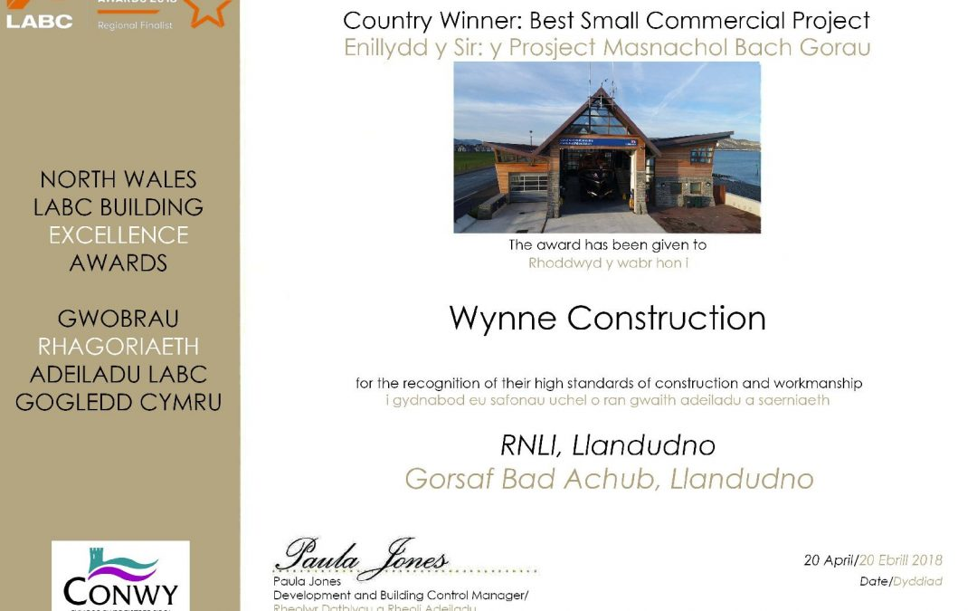 """Best Small Commercial Project"" Winners"