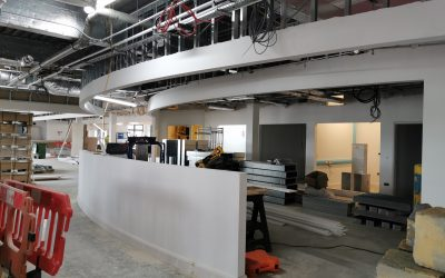 Staff Hub Progress at Block B
